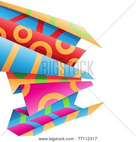 Stock Illustration of colorful folded wrapping paper