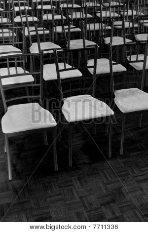 Rows Of Chairs At Wedding
