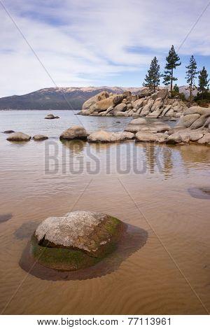 Smooth Rocks Clear Water Lake Tahoe Sand Harbor