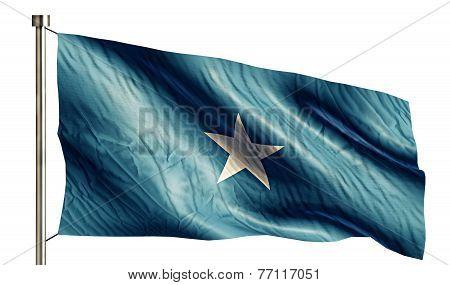 Somalia National Flag Isolated 3D White Background