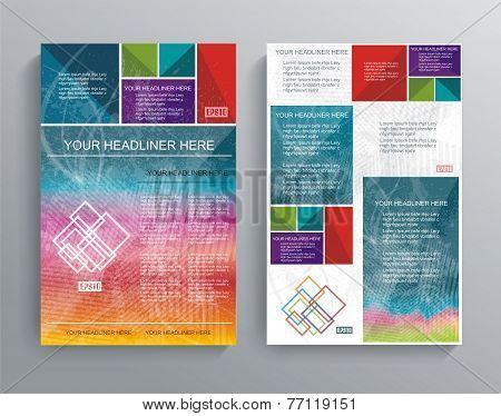 Vector Brochure Template Design With Bright Cubes