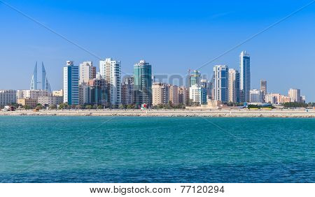 Skyline Of Manama City, Bahrain, Middle East
