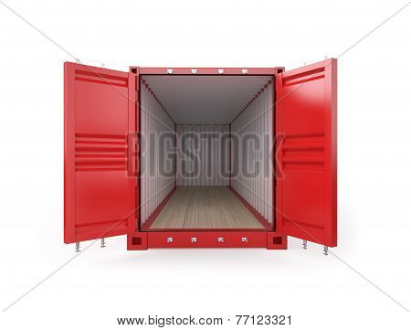 Empty Red Container