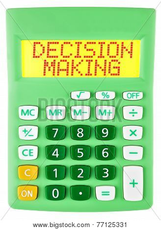 Calculator With Decision Making  Isolated