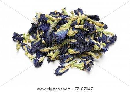 dried butterfly pea flowers