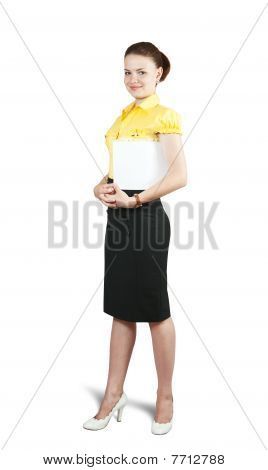 Businesswoman  With Paper Folder