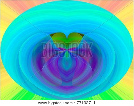 abstract heart shaped backgound