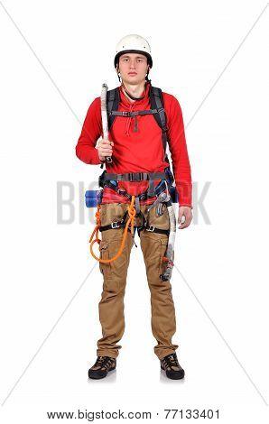 Climber With Ice Axe