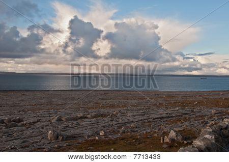 Irish Shipping Lane On The West Coast Evening Ireland