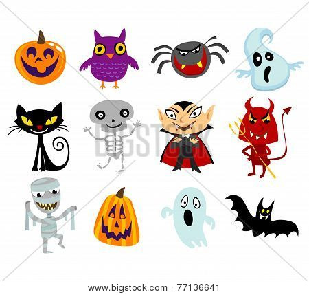 Halloween Cartoon Characters In Costumes