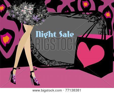 Night Shopping Card