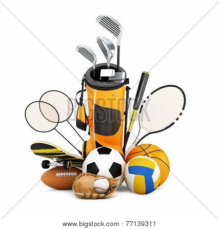 Sport equipment  collection