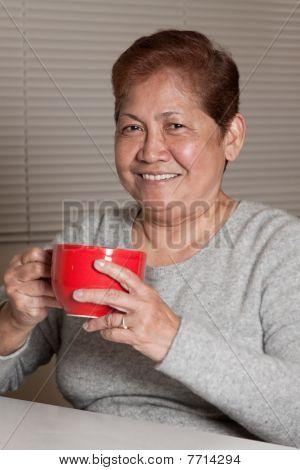 Asian Senior Woman Grandmother