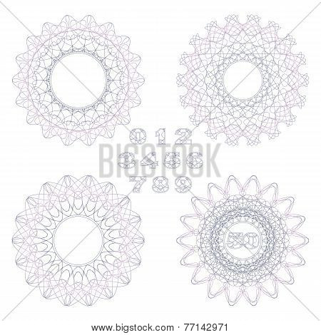 Decorative Rosettes And Numbers