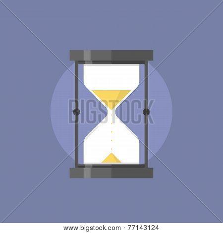 Hourglass Flat Icon Illustration