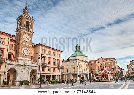 Piazza Tre Martiri In Rimini, Italy