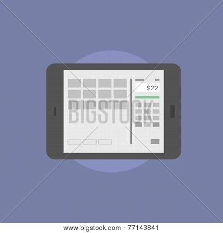 Online Banking Flat Icon Illustration