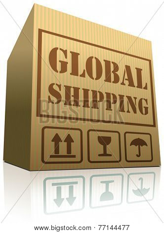 global shipping globalization international trade import and export vector icon