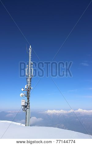 Ariel Mast on a mountaintop