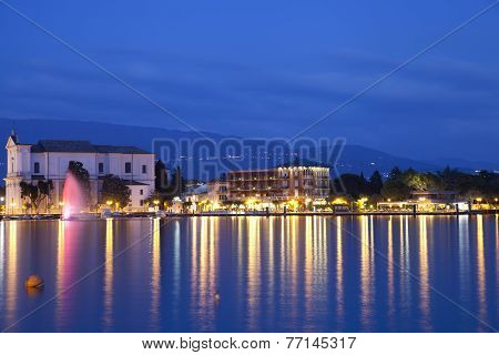 Lake Front of Toscolano Maderno At Dusk