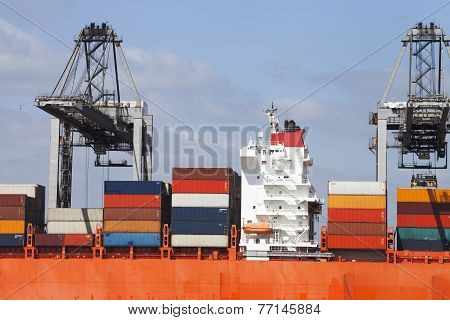 Bridge Of a container ship