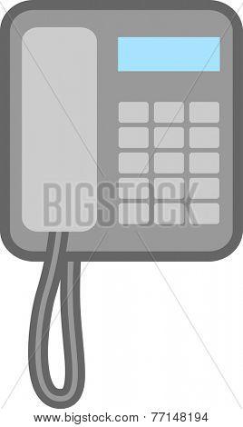 corded telephone icon