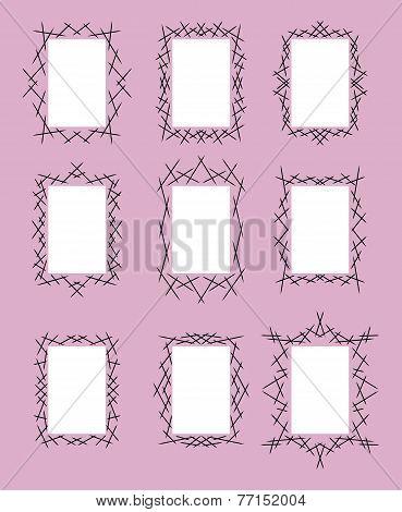 Set Of Nine Frames