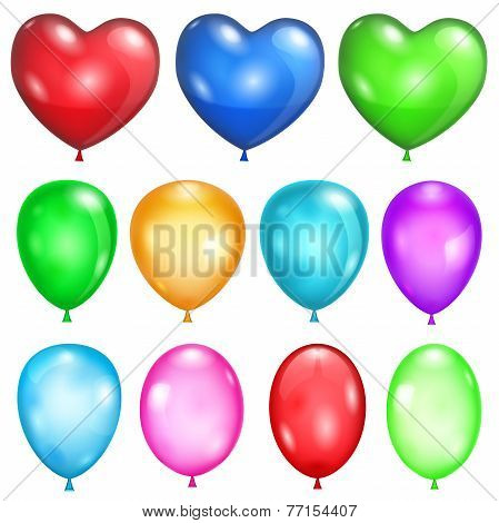Set Of Opaque Balloons