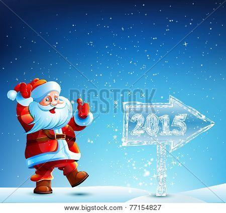 Santa Claus walks in 2015