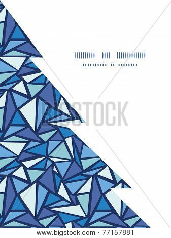 Vector abstract ice chrystals Christmas tree silhouette pattern frame card template