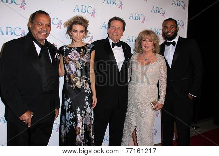 LOS ANGELES - NOV 22:  Billy Dee Williams, AnnaLynne McCord, Patrick Wayne, guest, The Game at the  ABC Black Tie Gala at the Beverly Hilton Hotel on November 22, 2014 in Beverly Hills, CA
