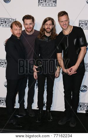 LOS ANGELES - NOV 23:  Imagine Dragons at the 2014 American Music Awards - Press Room at the Nokia Theater on November 23, 2014 in Los Angeles, CA