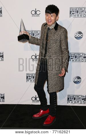 LOS ANGELES - NOV 23:  Jason Zhang Jie at the 2014 American Music Awards - Press Room at the Nokia Theater on November 23, 2014 in Los Angeles, CA