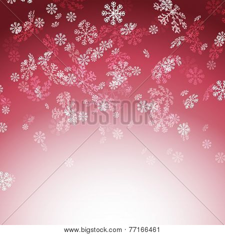 New Year Christmas Snow Red Card