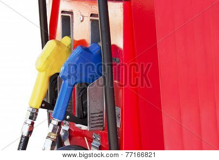 Fuel Pump In The Gas Station
