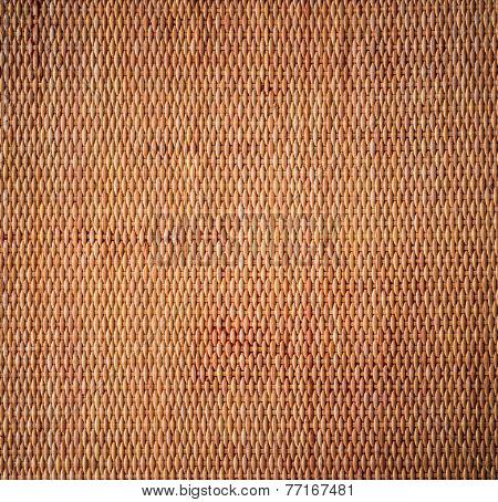Decorative Background Of Brown Handicraft Weave Texture Wicker Surface