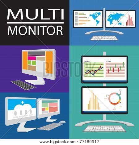 Multi computer Monitor
