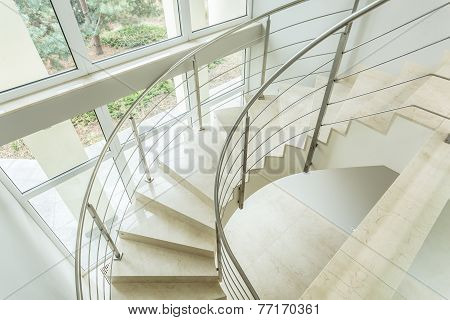 Winding Stairs In Luxury Apartment