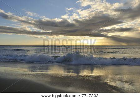 Crisp beach sunrise