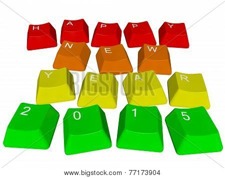 PC keys Happy New Year 2015