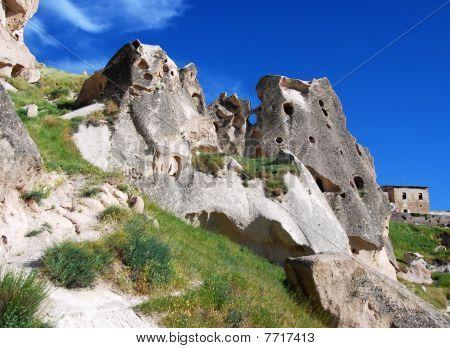 Cappadocia rock carved houses, Uchisar