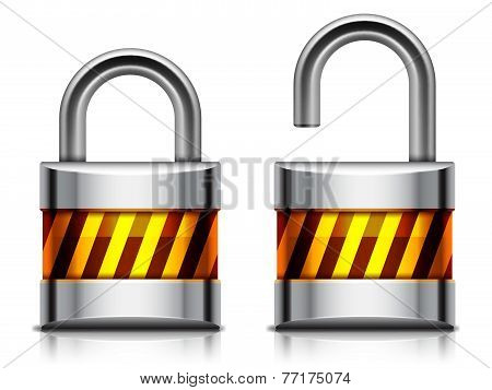 Security padlock.