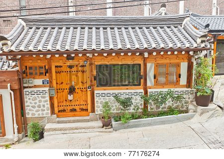 Korean Traditional Style House In Seoul, Korea