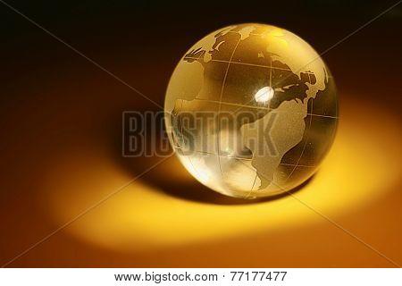 studio shot of the glass globe