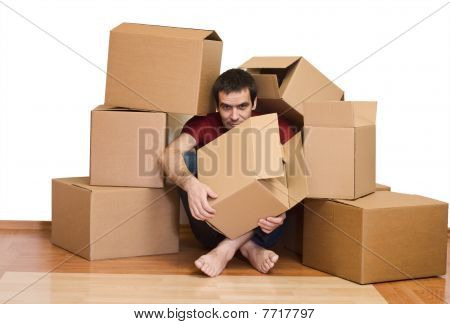 Man Overrun By The Issues Of Moving