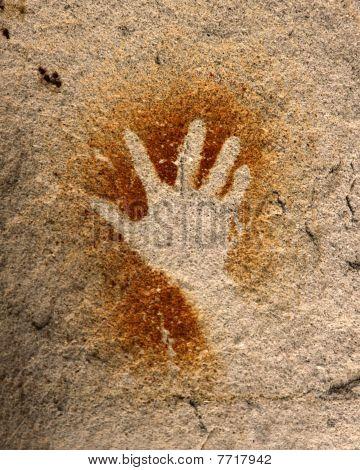 Mão - arte rupestre