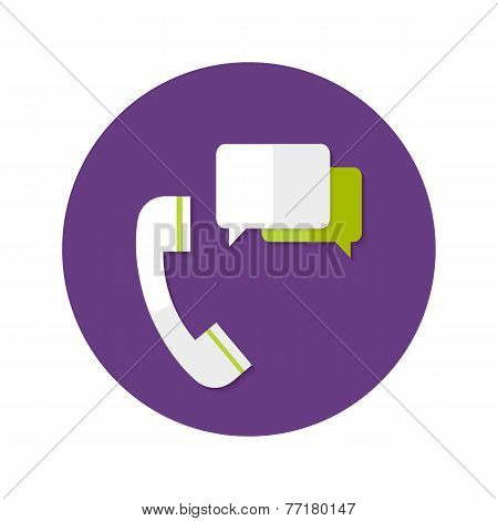 Help Callback Flat Circle Icon
