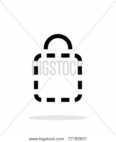 Shopping bag absent simple icon on white background.