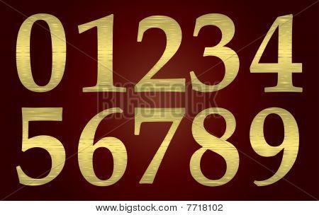 Set of golden metal numbers
