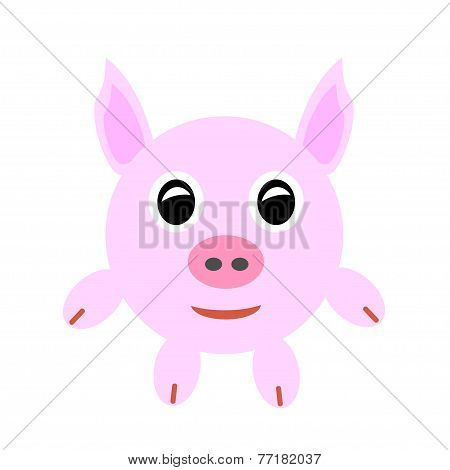 Pink baby pig.